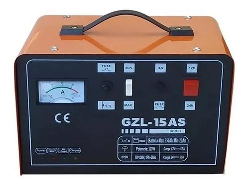 cargador de bateria auto moto 15amp 12v 24v con nivel /carga