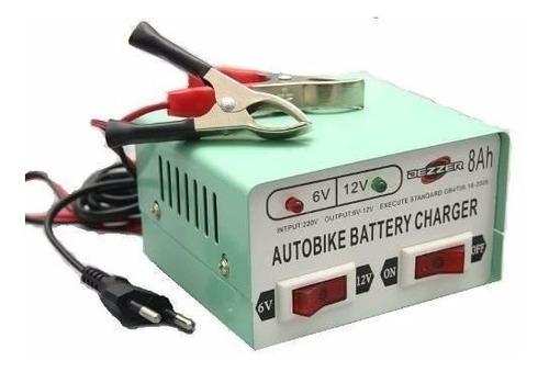 cargador de batería  auto moto lancha 6v 12v de 8amp