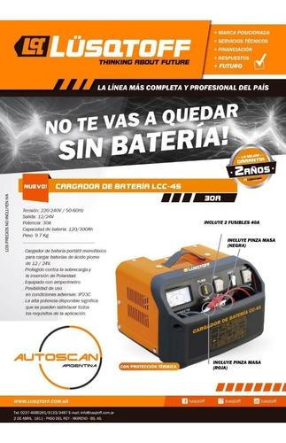 cargador de bateria autos 120-300ah lusqtoff 30 amp 12v/24v