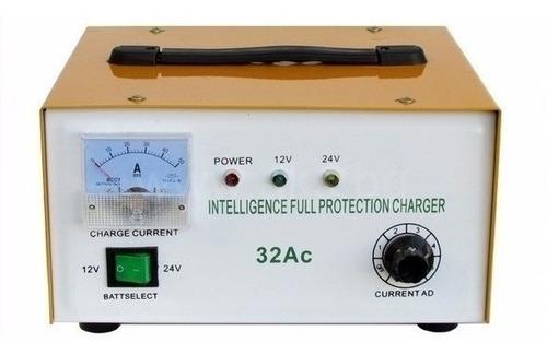 cargador de bateria de 12v y 24v 32a