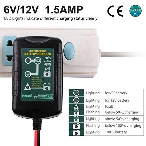 cargador de bateria de 6 v 12 v 15 a universal para coche ve
