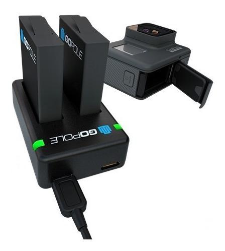 cargador de batería dual + 2 baterías gopro hero 5 6 7