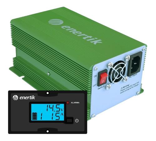 cargador de batería intelig automát c/display 12v 15a cuotas