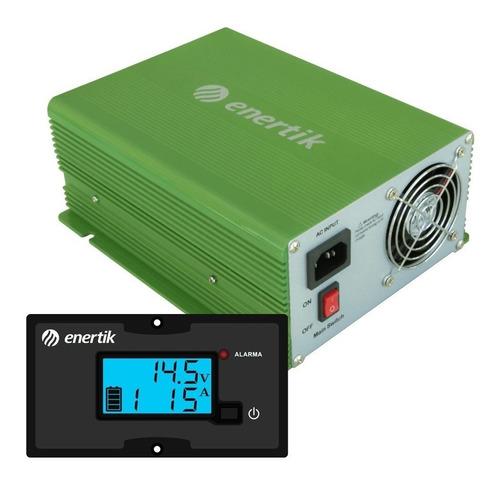cargador de batería intelig automát c/display 12v 30a cuotas