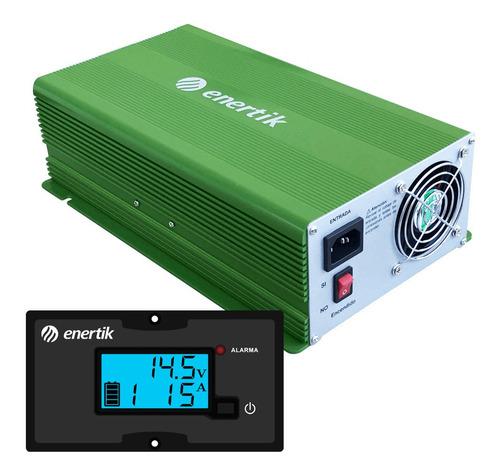 cargador de batería inteligente automático c/display 12v 60a