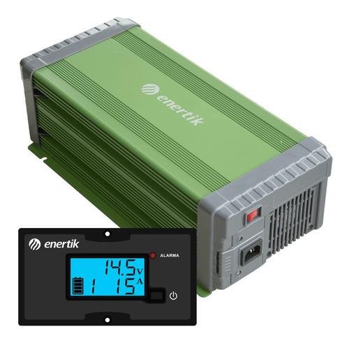 cargador de batería inteligente automático c/display 12v 90a