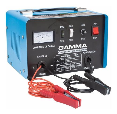 cargador de bateria para auto 10 amper 12/24v g2705 gamma