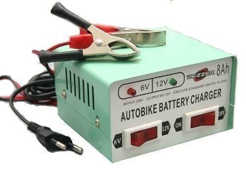 cargador de bateria para auto / moto 6v/12v - 8 amperes