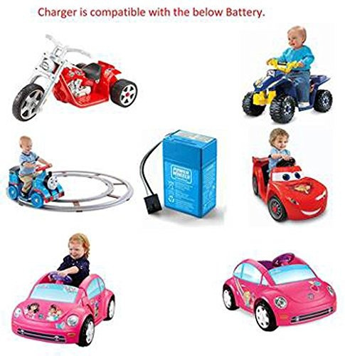 cargador de batería power wheels toddler de 6 voltios