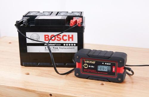 cargador de baterias 4 amps para 6v / 12v todo tipo