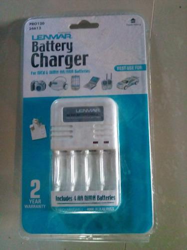 cargador de baterias aa y aaa