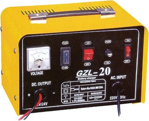 cargador de baterias carro ó moto 20 amp. 12-24 v. (tungar)