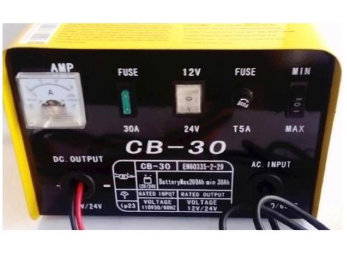 cargador de baterías de 12 a 24 voltios