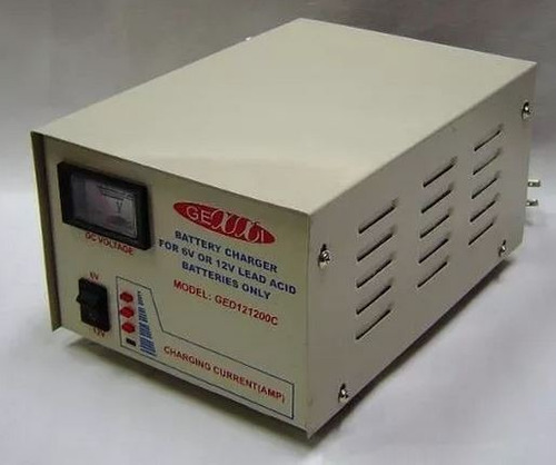 cargador de baterias de auto.6v y 12v, 12amp de mesa