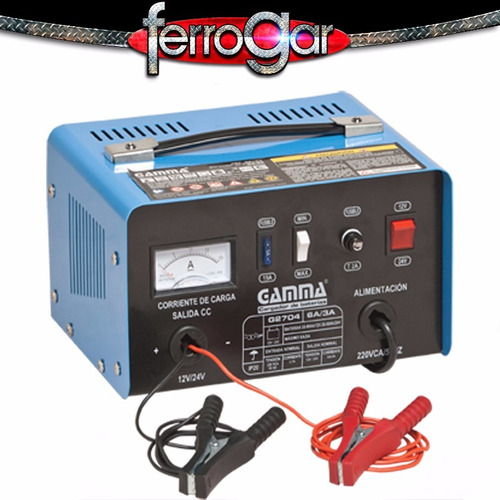 cargador de baterias gamma 12/24 v - 6 amp g2704