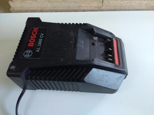 cargador de baterias ion litio. bosh. 18v excelente