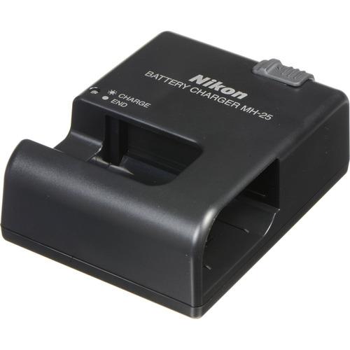 cargador de baterías mh-25 para nikon