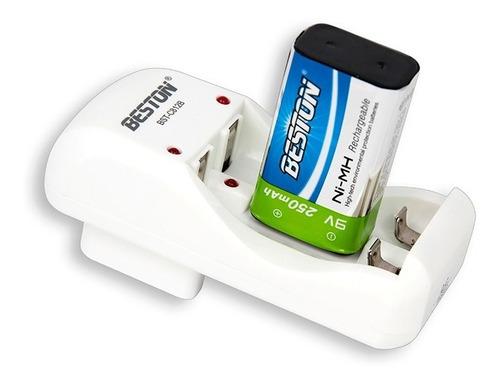 cargador de baterías pilas aa / aaa / 9v recargable