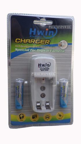 Cargador de baterias pilas recargables 2 pilas 2000mah - Cargador pilas recargables ...