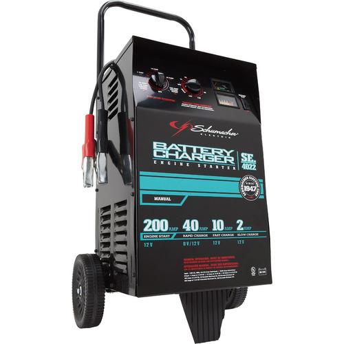 cargador de baterias schumacher 200a/40a/10a/2a se-4022