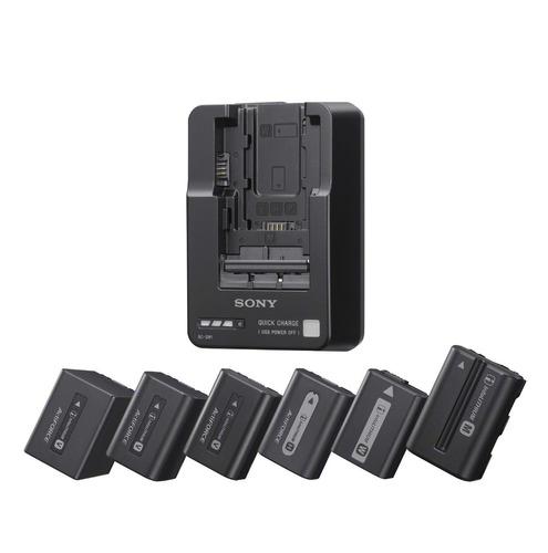 cargador de baterías sony bcqm1 series v, w, m, h y p