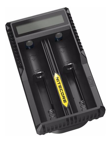 cargador de baterias usb nitecore 2 slot de carga y display