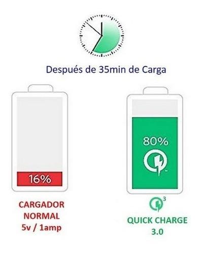 cargador de carro anker 39w iq quick charge 3.0 carbono