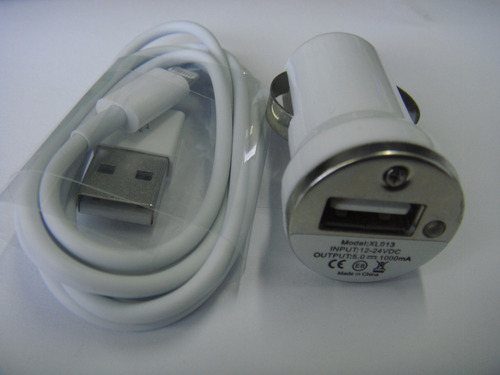 cargador de iphone para auto  2x1 (1a)