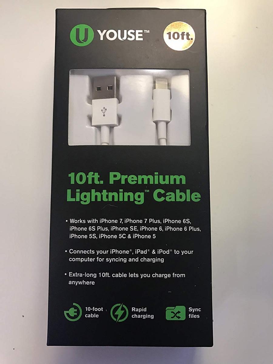 185f730ca2e Cargador De iPhone U Youse 10 Ft - $ 829,99 en Mercado Libre