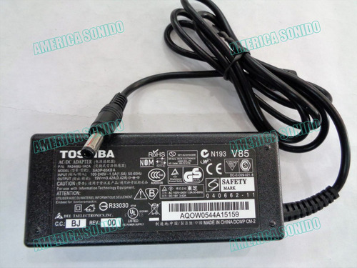 cargador de laptop toshiba satelite 19v 3.42a asus vit y mas
