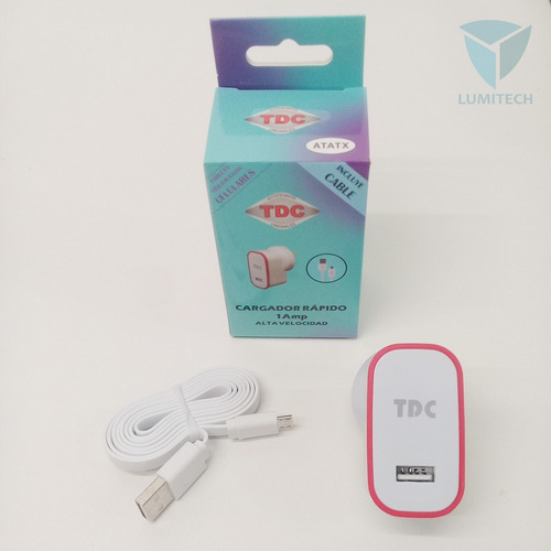 cargador de pared 1a/1usb tdc