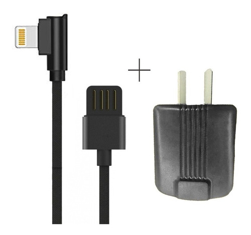 cargador de pared 2 puertos usb + cable lightning iphone