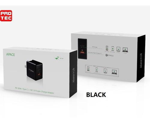cargador de pared 48w qc3.0 y pd smartphone ipad macbook, carga rápida. excelente