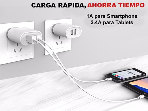 cargador de pared aykey 2 puertos quick charge 3.0 - ge