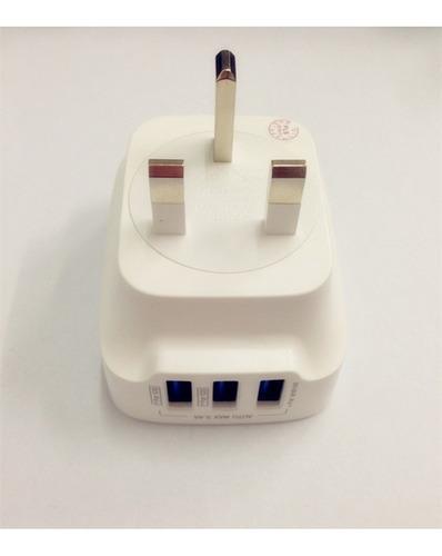 cargador de pared ldnio original 3.4a 3 usb c/cable (13)