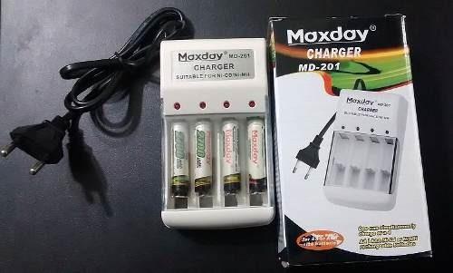 cargador de pilas marca maxday
