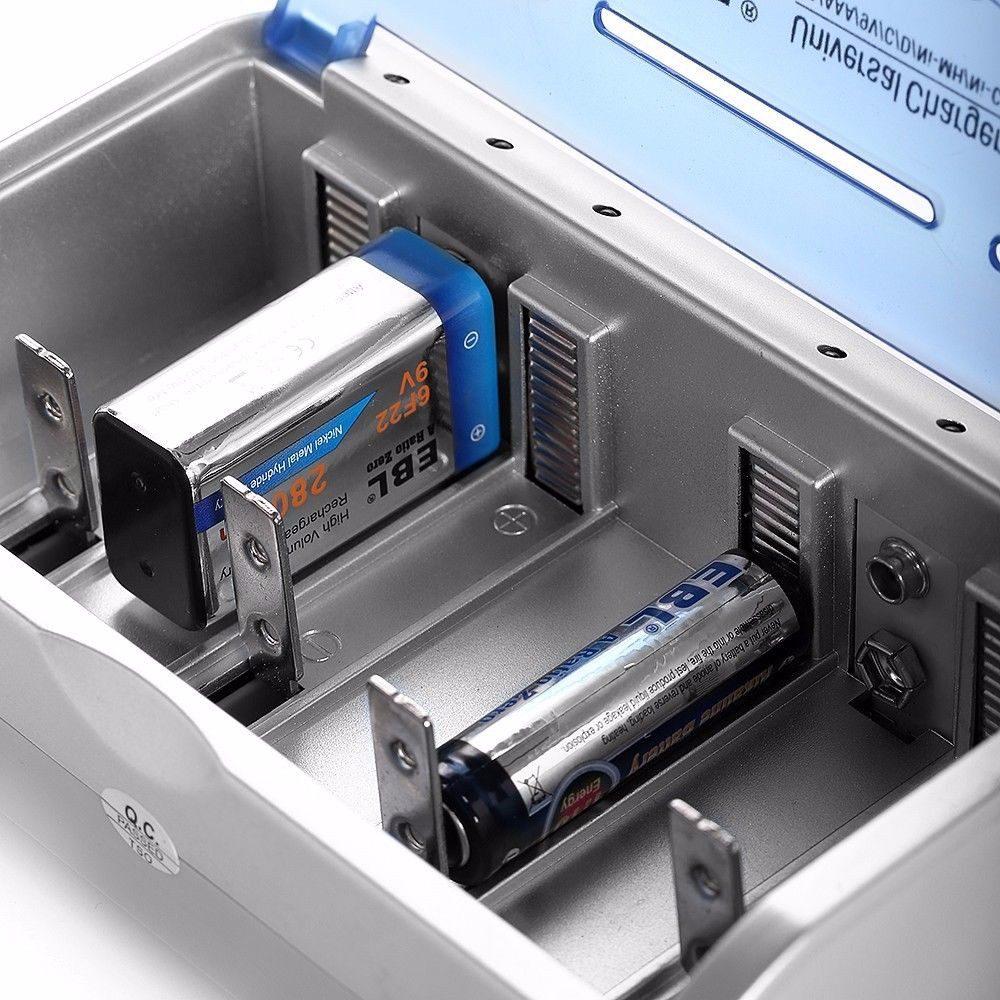 Cargador de pilas universal aa aaa size c d 9 volt - Cargador para pilas ...