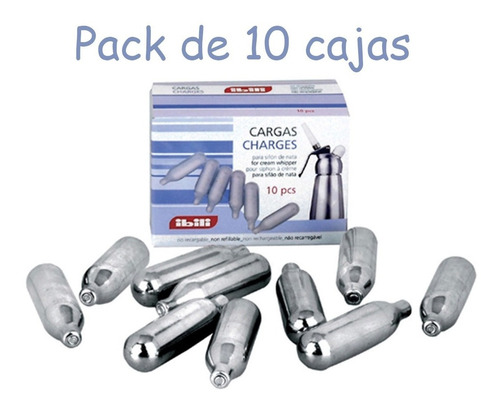 cargador de sifones para crema (100 cargas) marca ibili