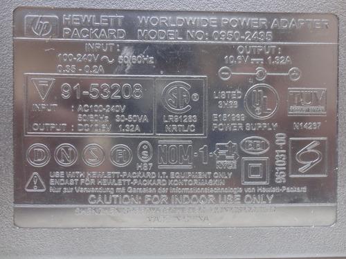 cargador de voltaje hp - output:  10,6 vdc  - 1,32 a