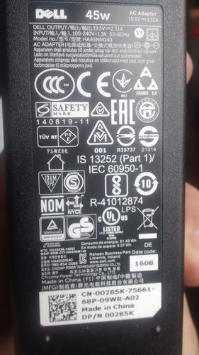 cargador dell original pin fino 19.5v 2.31a 45w