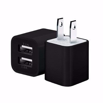 cargador doble cubo dos cargas 1a y 2a usb 5v envío gratis