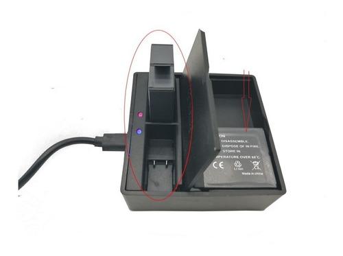 cargador doble generico para gopro 7/6/5 black