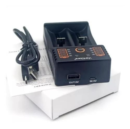 cargador doble inteligente de pilas aa aaa 26650 18650 14500