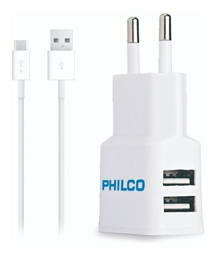 cargador doble micro usb   philco