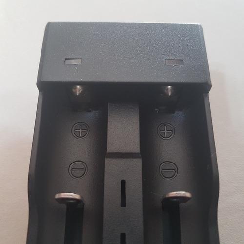 cargador doble pilas 18650 16340 14500 16500 usb luz y corte