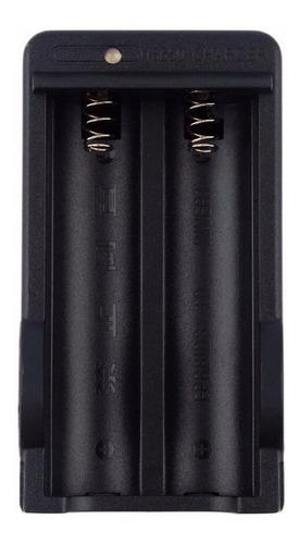cargador doble pilas litio 18650 viajero indicador de carga