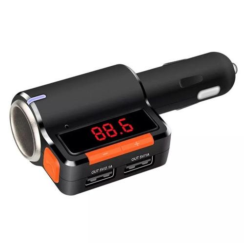 cargador encendedor autos - bluetooth y transmitefm - 2.1amp