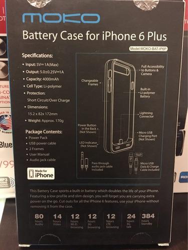 cargador estuche para iphone plus 6-6s-7