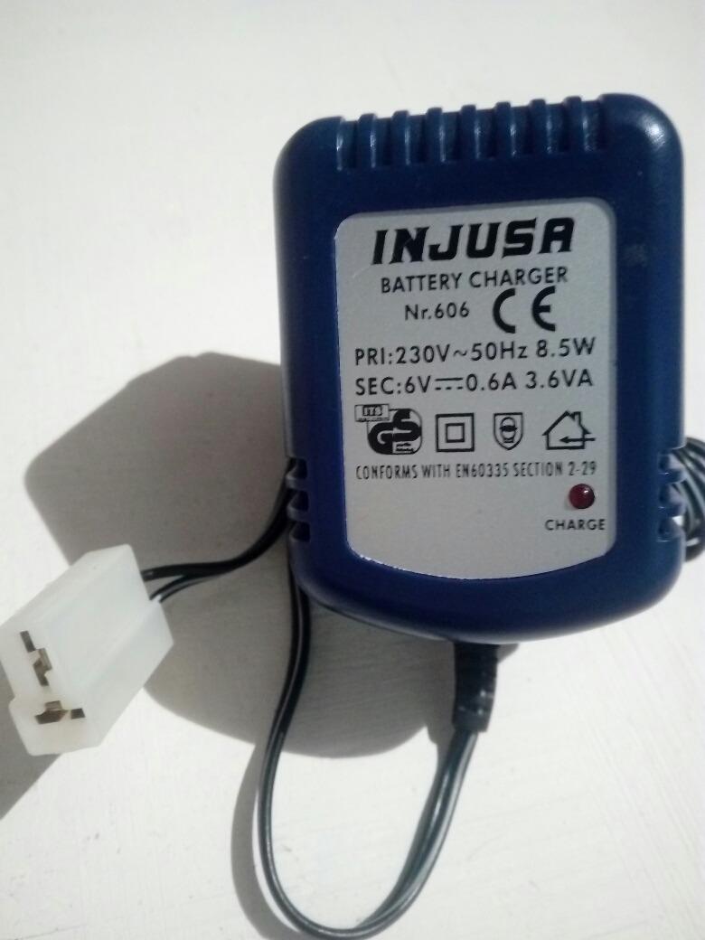 Cargador Europeo Para Baterias De Carros De Juguete Injusa