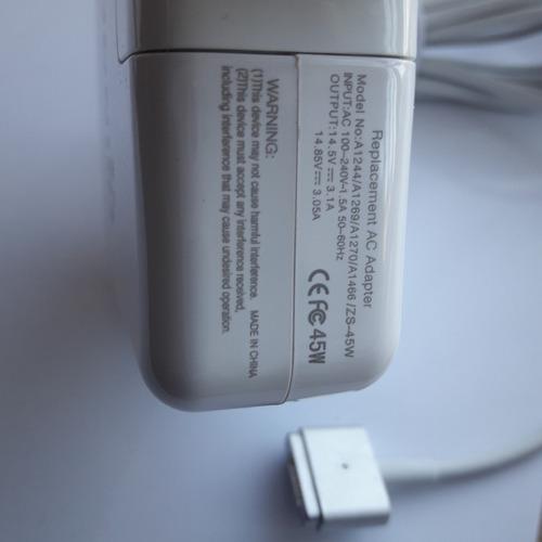 cargador generico macbook pro, 45w magsafe 2 macbook air.